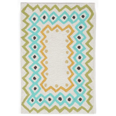 Bahri Pastel Border Indoor/Outdoor Area Rug Rug Size: 36 x 56