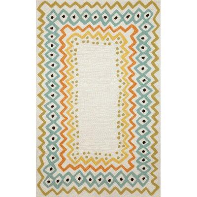 Francis Ethnic Pastel Border Indoor/Outdoor Area Rug Rug Size: 36 x 56