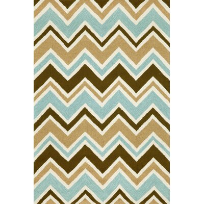Francis See Saw Aqua Indoor/Outdoor Area Rug Rug Size: 36 x 56