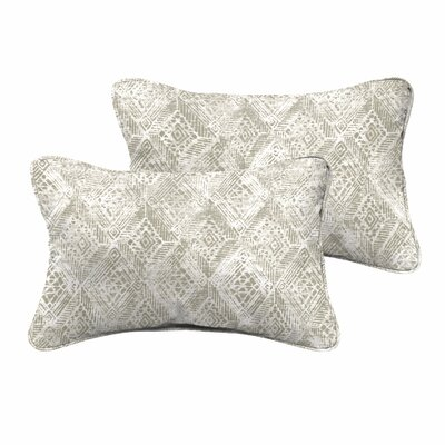 Caterina Indoor/Outdoor Corded Edging Lumbar Pillow