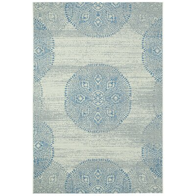 Malayah Blueberry Mandala Outdoor Area Rug Rug Size: 53 x 76
