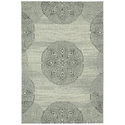 Malayah Green Mandala Outdoor Area Rug Rug Size: Rectangle 53 x 76