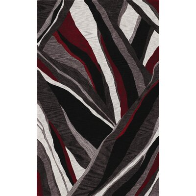 Sanders Hand-Tufted Black Area Rug Rug Size: Rectangle 36 x 56