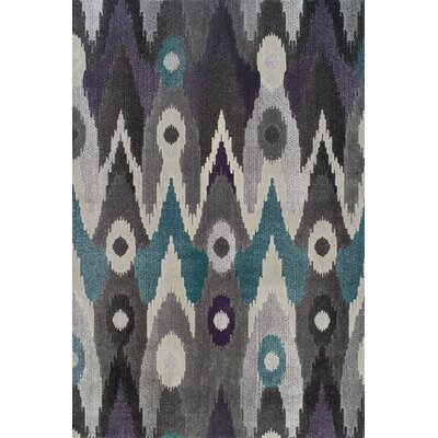 Ruben Black/Grey Ikat Graphite Area Rug Rug Size: Rectangle 53 x 77