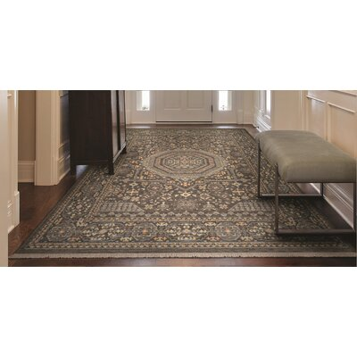 Nickalos Gray Area Rug Rug Size: 82 x 113