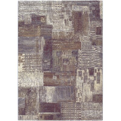 Gene Brown/Cream Area Rug Rug Size: 53 x 76
