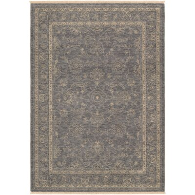 Amity Dusty Blue/Beige Area Rug Rug Size: 47 x 64