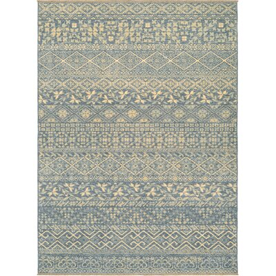 Nickalos Blue/Beige Area Rug Rug Size: Rectangle 82 x 113