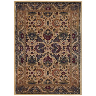 Robenson Plume/Cream Area Rug Rug Size: Rectangle 82 x 115