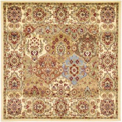 Janiyah Cream Area Rug Rug Size: Square 4