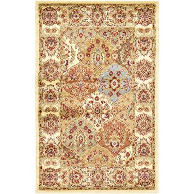 Janiyah Cream Area Rug Rug Size: Square 8