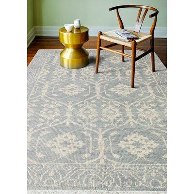 Ferran Hand-Knotted Slate Area Rug Rug Size: 86 x 116