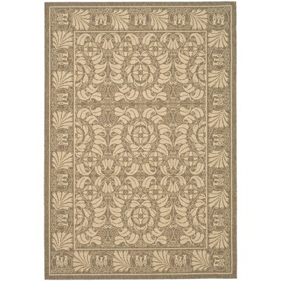 Catori Coffee/Mais Outdoor Rug Rug Size: 53 x 77