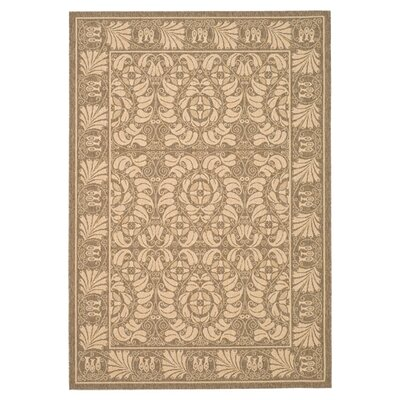 Catori Coffee/Mais Outdoor Rug Rug Size: Runner 23 x 20