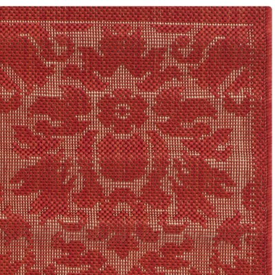 Catori Red Solid Outdoor Area Rug Rug Size: Runner 27 x 5