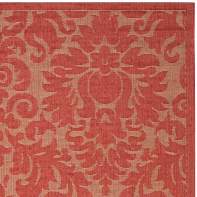 Catori Red Solid Outdoor Area Rug Rug Size: 811 x 12