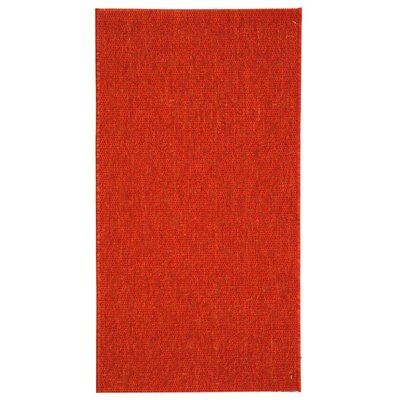 Catori Red Solid Outdoor Area Rug Rug Size: 2 x 37