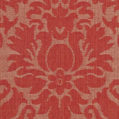 Catori Red Solid Outdoor Area Rug Rug Size: 53 x 77