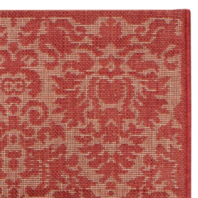 Catori Red Solid Outdoor Area Rug Rug Size: Runner 23 x 14