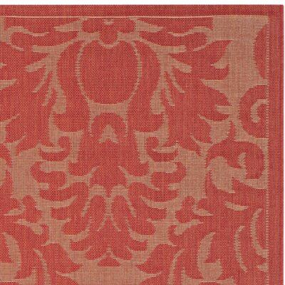 Catori Red Solid Outdoor Area Rug Rug Size: Square 67
