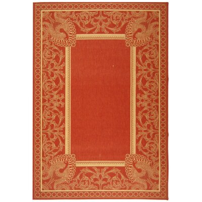 Catori Red & Natural Outdoor/Indoor Area Rug Rug Size: 67 x 96