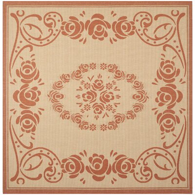 Elisabeth Natural/Terra Outdoor Rug Rug Size: Square 710
