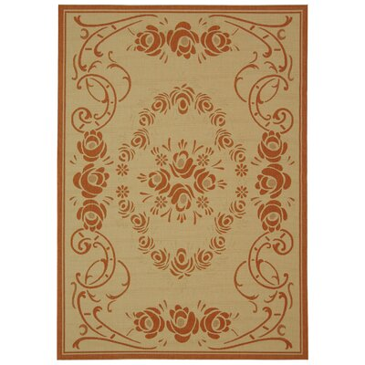 Elisabeth Natural/Terra Outdoor Rug Rug Size: Rectangle 67 x 96