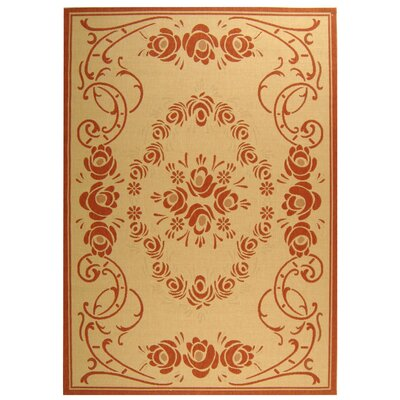 Elisabeth Natural/Terra Outdoor Rug Rug Size: Rectangle 92 x 126