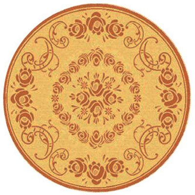 Catori Natural/Terra Outdoor Rug Rug Size: Round 53