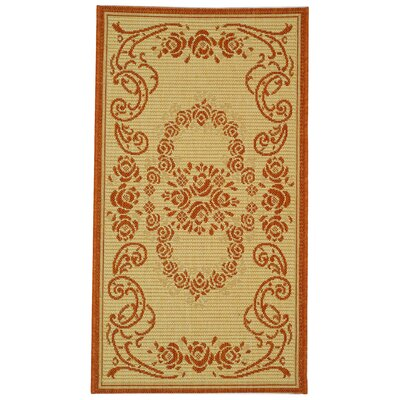 Catori Natural/Terra Outdoor Rug Rug Size: 2 x 37