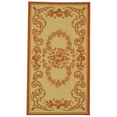 Elisabeth Natural/Terra Outdoor Rug Rug Size: Rectangle 27 x 5