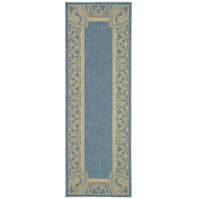 Catori Blue/Natural Rug Rug Size: Runner 23 x 12