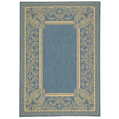 Catori Blue/Natural Rug Rug Size: Rectangle 4 x 57