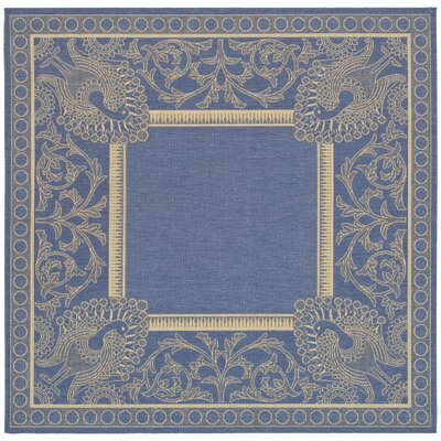 Catori Blue/Natural Rug Rug Size: Square 67