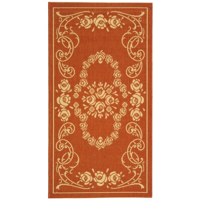 Catori Terra/Natural Outdoor Rug Rug Size: Runner 27 x 5