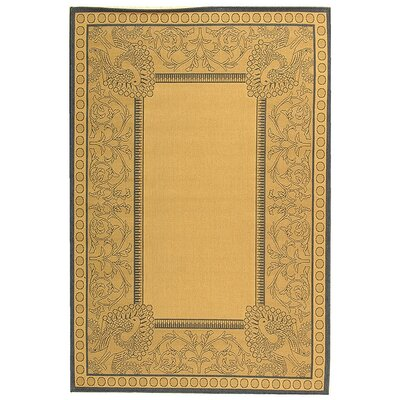 Catori Natural / Blue Outdoor Area Rug Rug Size: 53 x 77