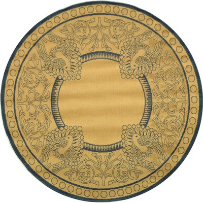 Catori Natural / Blue Outdoor Area Rug Rug Size: Square 67