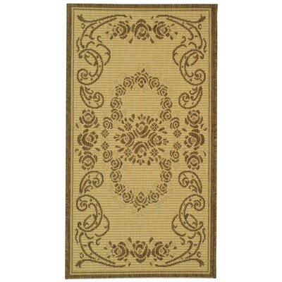 Catori Natural/Brown Outdoor Rug Rug Size: 2 x 37