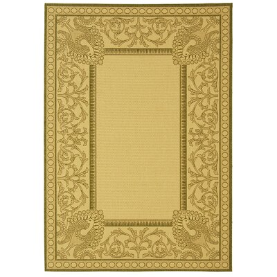 Catori Natural / Olive Outdoor Area Rug Rug Size: 53 x 77
