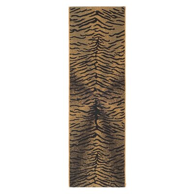Catori Light Black/Natural Outdoor Rug Rug Size: Runner 24 x 67