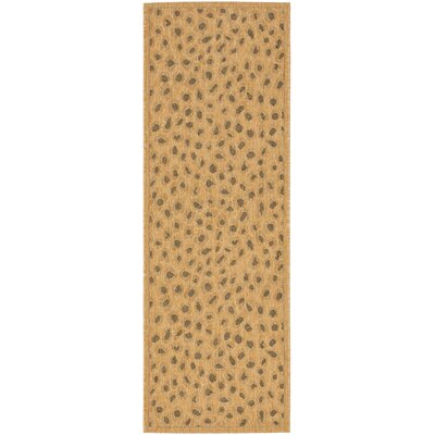 Catori Gold Outdoor Rug Rug Size: Runner 22 x 911