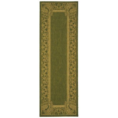 Catori Olive/Natural Rug Rug Size: Rectangle 27 x 5