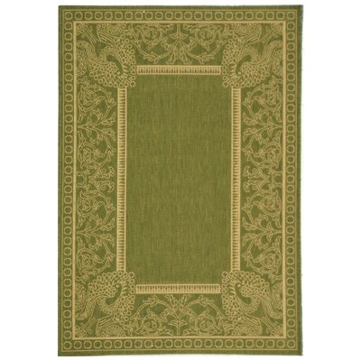 Catori Olive/Natural Rug Rug Size: Rectangle 67 x 96