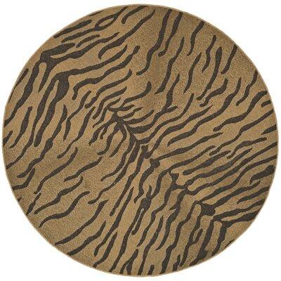 Catori Dark Brown/Natural Outdoor Rug Rug Size: Round 67