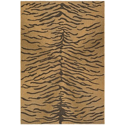 Catori Dark Brown/Natural Outdoor Rug Rug Size: 53 x 77