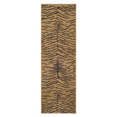 Catori Dark Brown/Natural Outdoor Rug Rug Size: Runner 22 x 911
