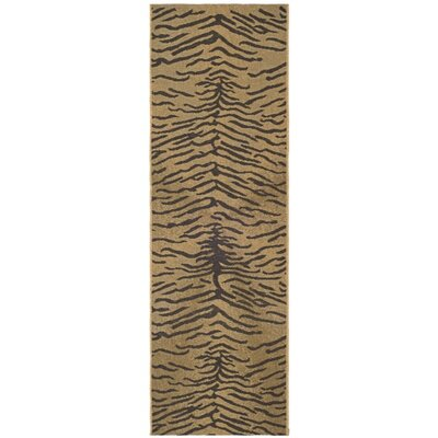 Catori Dark Brown/Natural Outdoor Rug Rug Size: Runner 24 x 67