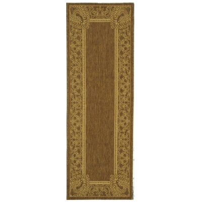 Catori Brown/Natural Rug Rug Size: Runner 24 x 67