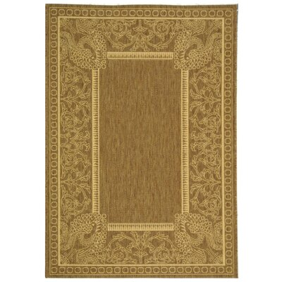 Catori Brown/Natural Rug Rug Size: 53 x 77