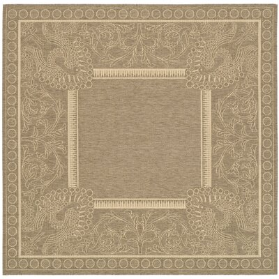 Catori Brown/Natural Rug Rug Size: Square 710